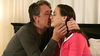 Fabulous big breasted MILF Chanel Preston is poked in spoon position