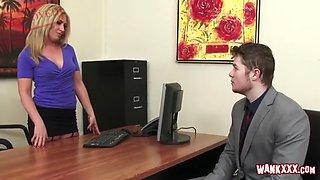 office staff sex with my horny boss slut