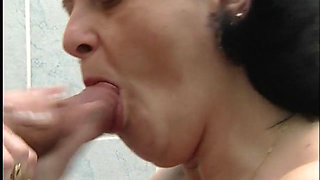 Hungarian Granny sucking and fucking