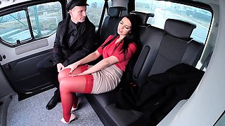 FUCKED IN TRAFFIC - Russian Kira Queen fucked in the car