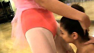 Innocent hardcore and amateur teen head Ballerinas