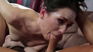 The pale skinned wife will do anything it takes to satisfy her hubby