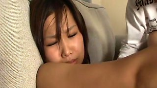 Japanese daughter have sex play with the boss
