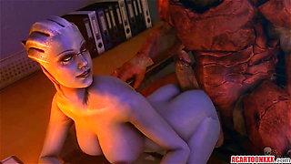 Big tits and ass Liara T'soni getting fucked hard