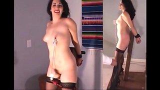 Incredible amateur Slave, Spanking adult scene