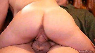 shameless stepdaughter lily jordan sets her boobies free to seduce shy daddy