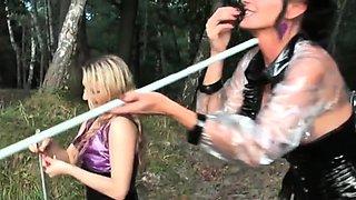 Mastix carmen rivera ties up her serf really hard
