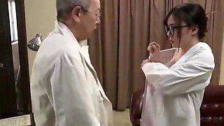 Lucky doctor bangs hot japanese nurse on a hospital