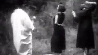 Vintage Stripper Dancing in the Woods