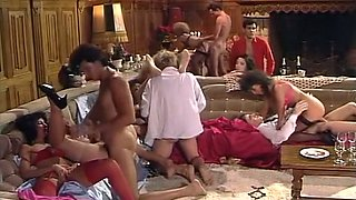 Outrageous classic orgy with all kinds over penetrations
