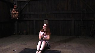 Thrall gets her beaver punished from lusty headmistress