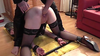 Slaveslut trained and fisted
