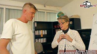German secretary mature mom seduced guy