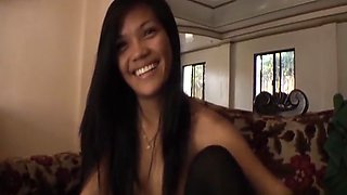 Slim Filipina amateur gets naked sucks then fucks