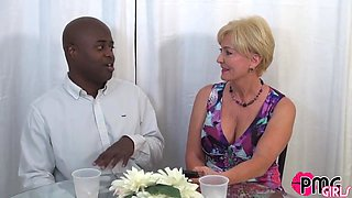 Mature Qos Milf Interviews Bbc Jay Playhard Before Fucking His Brains Out
