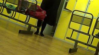 pregnant -  Hidden camera in the dressing room