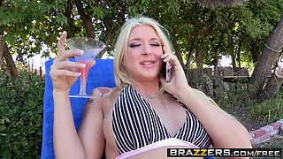 Brazzers - Shes Gonna Squirt - Leya Falcon and Clover -  Fuck Your Pool