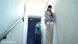 Naked Jeny Smith is  sneaking and been arrested in the end