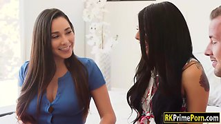 horny karlee grey and classmates hot threesome with stepmom