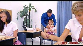 Schoolgirl getting Dick in Detention