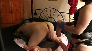 GAPE SLAVE PEGGED Tiny Cock Humiliation