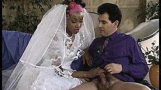 Ebony bride anal fucked on the weeding