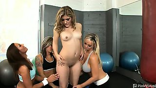Fitness instructors Adrianna and Abbey are at the local gym