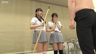 Asian School Girl. Thigh Highs