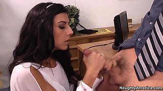 Lou Charmelle has luck with her office mate!