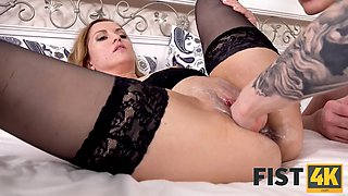 FIST4K. Tongue and cock hot girl but she needs a fist in her ass to satisfy herself