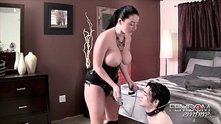 Sophie Dee Anally Strap-on training slave -Femdom Empire