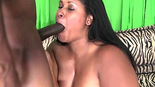 Black BBW Girlfriend Tit And Pussy Fucked By Boyfriend