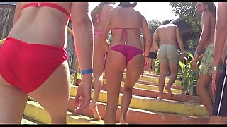 Big Ass Latina Bikini Close Up Beach Voyeur HD Video