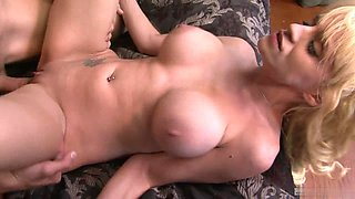 Scarlett Monroe is a gorgeous blonde covered in semen after sex