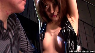 Saki Kouzai naughty Japanese milf in bondage cosplay