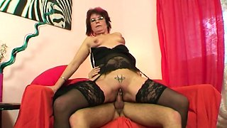 Emo Grandma Jana Pesova Fucked In Sexy Stockings