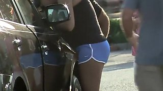 Car accident and a cameltoe
