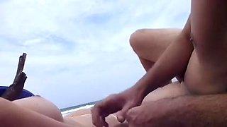 Masturbate nude wife at beach to orgasm