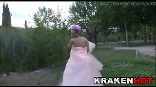 public submission with a hard bride outdoor bdsm scene