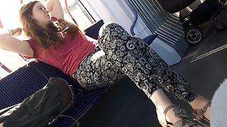 Germany model feet toes bus show