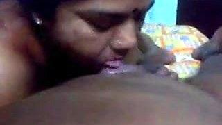 Tamil aunty milf sucking
