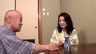 Horny Japanese granny enjoys the pleasures of hardcore sex