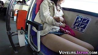 Asian finger stranger bus