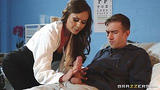 doctor tina kay orally cures her patient danny d's cock