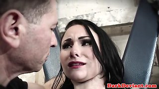Maledom submits sub into rough throating