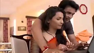 Hot indian dirty secretary sex with boss for promotion in office