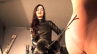 Lady Victoria Valente punishes her Boot Boy