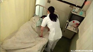 Small tits mature nurse from Japan enjoys riding her patient