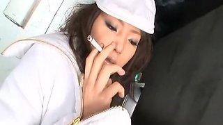 Hottest Japanese model in Exotic Smoking, Stockings JAV clip