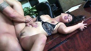 Cute secretary with a pierced tongue Jessica Bangkok